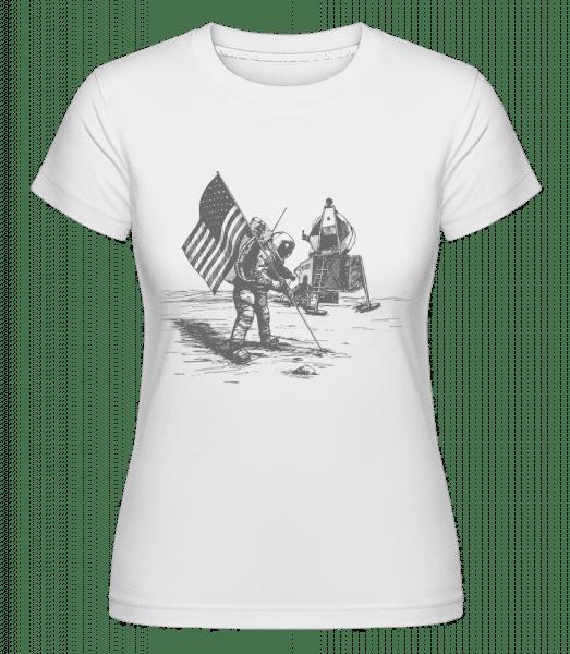 Mondlandung Apollo - Shirtinator Frauen T-Shirt - Weiß - Vorn
