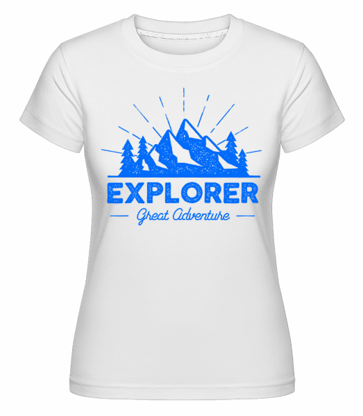 Explorer Great Adventures -  T-shirt Shirtinator femme - Blanc - Vorn
