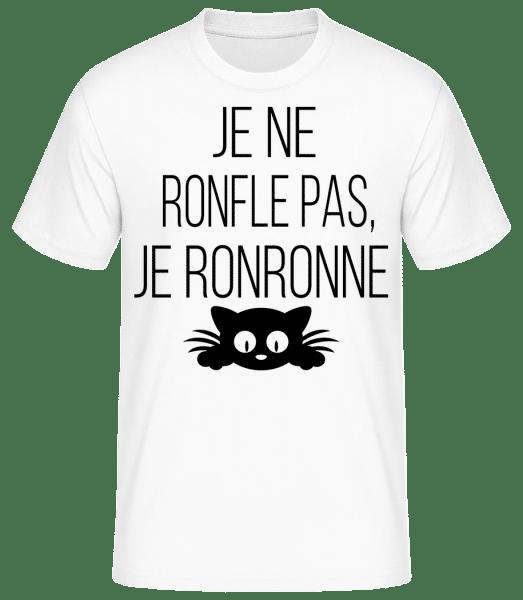 Je Ne Ronfle Pas - T-shirt standard Homme - Blanc - Devant