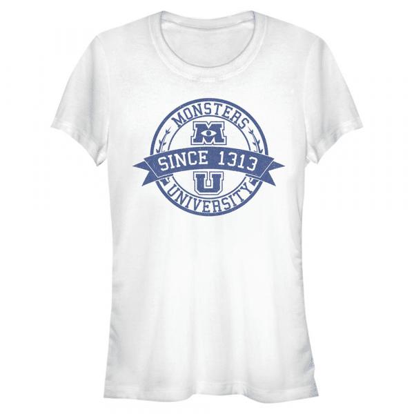 MU Vintage Logo - Pixar Monster's Inc. - Women's T-Shirt - White - Front