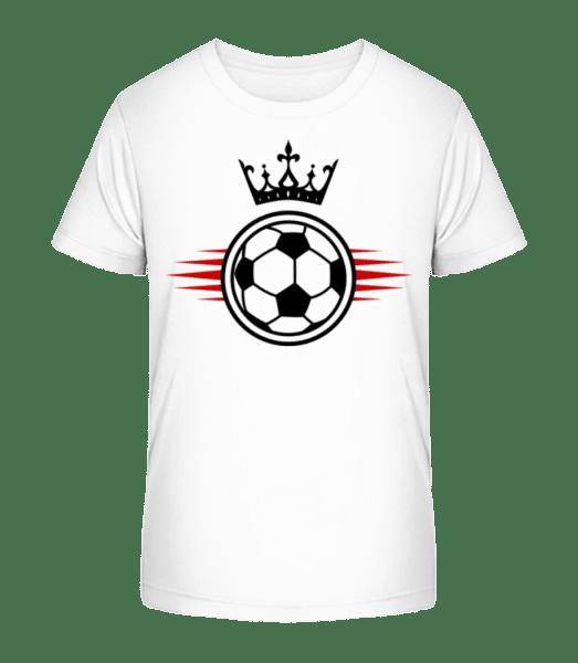 Football Crown - Kid's Premium Bio T-Shirt - White - Vorn