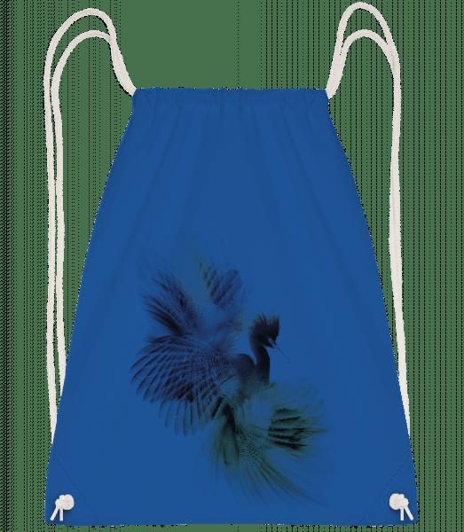 Fantasy Bird - Drawstring Backpack - Royal blue - Vorn