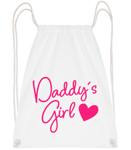 Daddy's Girl - Drawstring Backpack - White - Vorn