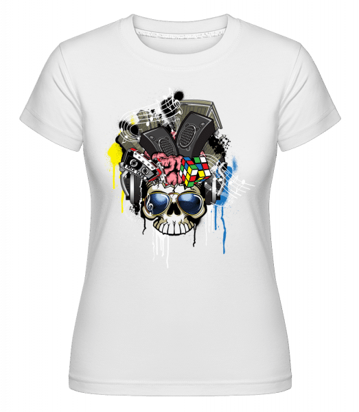 Creative Skull -  Shirtinator Women's T-Shirt - White - Vorn