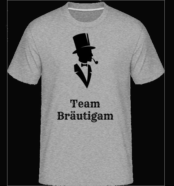 Gentlemen Team Bräutigam - Shirtinator Männer T-Shirt - Grau meliert - Vorn