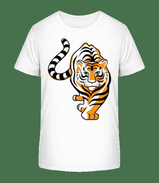 Tiger - Kid's Premium Bio T-Shirt - White - Vorn