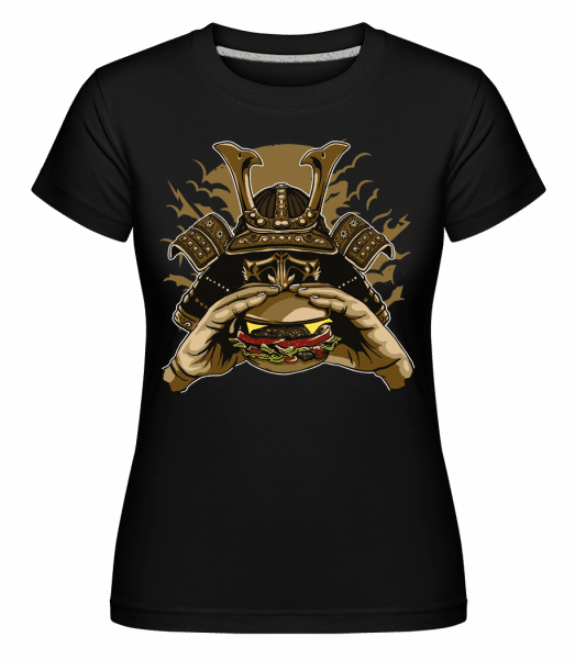 Samurai Burger - Shirtinator Frauen T-Shirt - Schwarz - Vorn