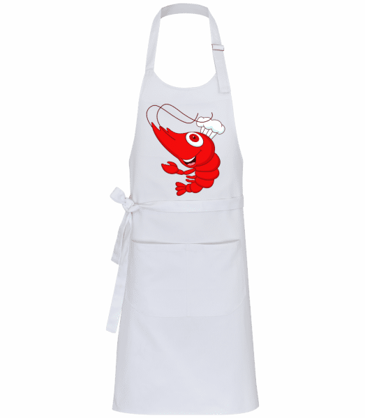 Funny Crab - Professional Apron - White - Front