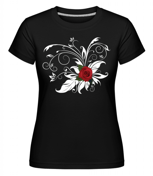 Rose Rouge -  T-shirt Shirtinator femme - Noir - Vorn