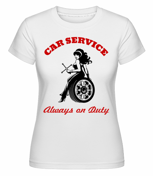 Car Service Sign - Shirtinator Frauen T-Shirt - Weiß - Vorn