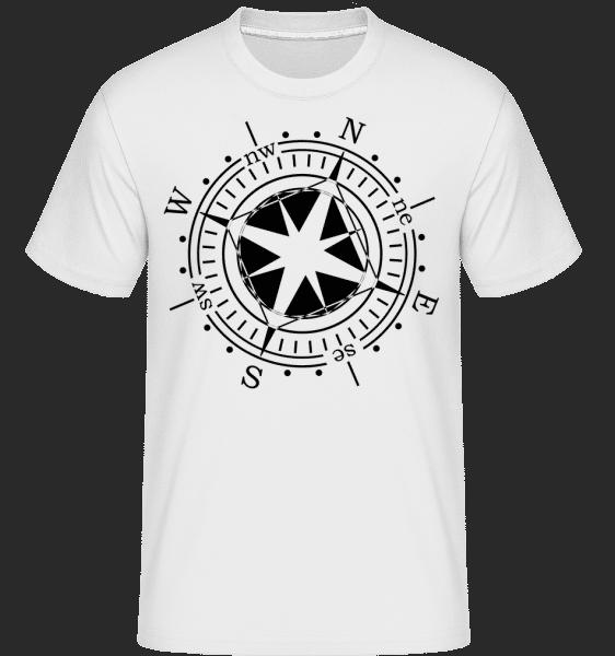 Compass -  Shirtinator Men's T-Shirt - White - Vorn