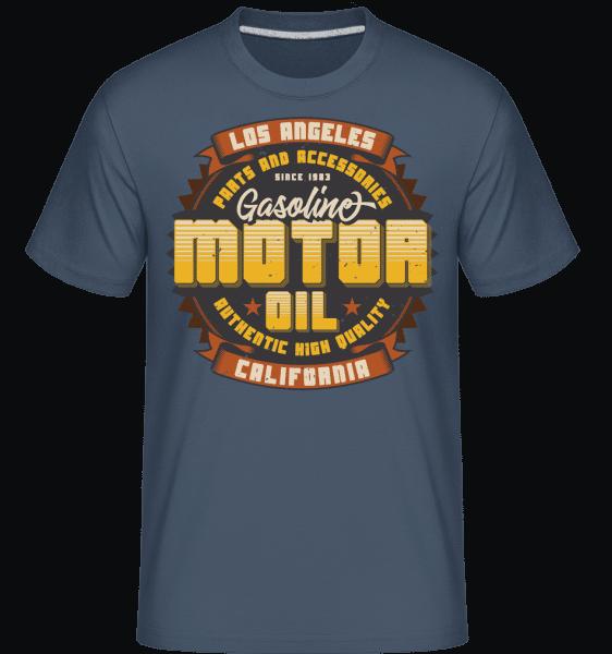 Motor Oil -  Shirtinator Men's T-Shirt - Denim - Vorn