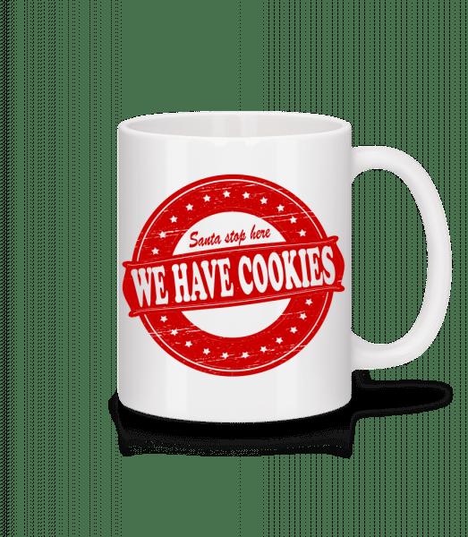 We Have Cookies Santa - Mug - White - Vorn