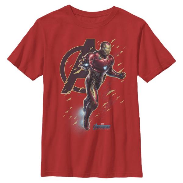 Suit Flies Iron Man - Marvel Avengers Endgame - Kids T-Shirt - Red - Front