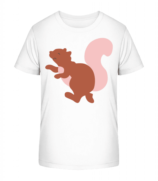 Kids Comic - Squirrel - Kid's Premium Bio T-Shirt - White - Vorn