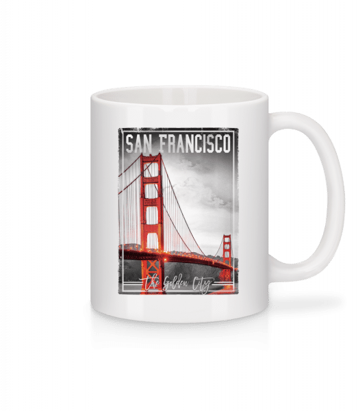 San Francisco Golden City - Mug - White - Vorn