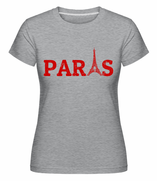 Paris France -  Shirtinator Women's T-Shirt - Heather grey - Vorn
