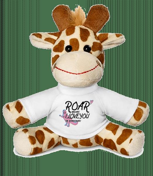 Roar I Love You - Giraffe - White - Vorn