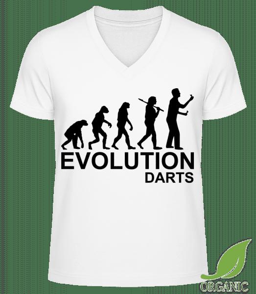 "Darts Of Evolution - ""James"" Organic V-Neck T-Shirt - White - Vorn"