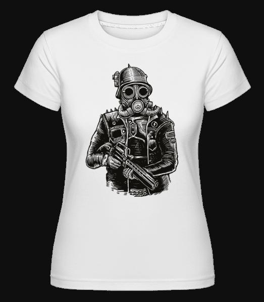 Steampunk Soldier -  Shirtinator Women's T-Shirt - White - Vorn