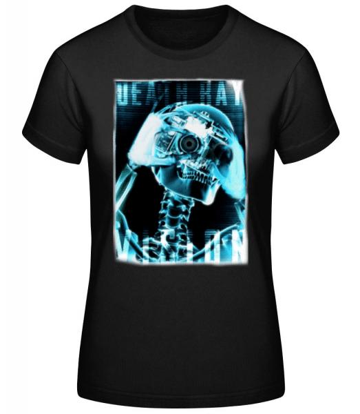 X-Ray Skeleton - Dámské basic tričko - Černá - Napřed