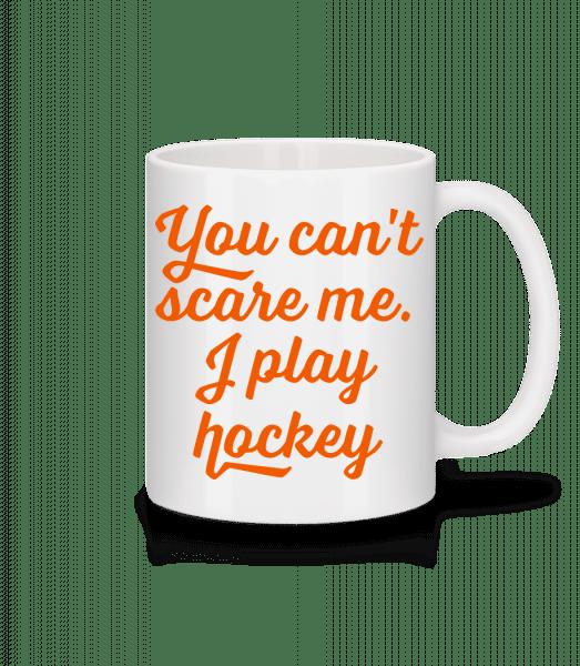 I Play Hockey - Mug en céramique blanc - Blanc - Devant