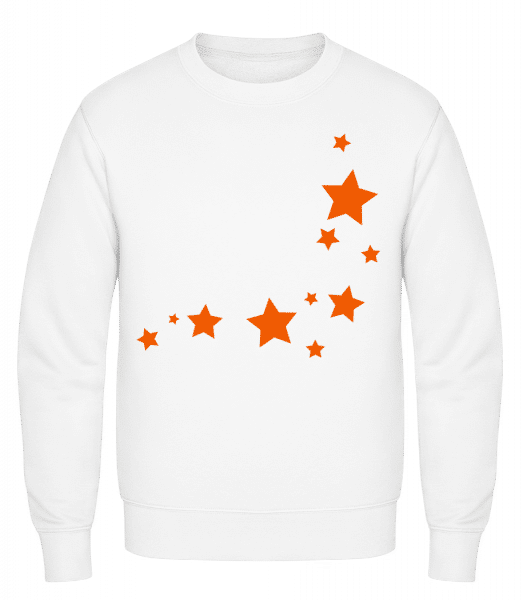 Stars - Classic Set-In Sweatshirt - White - Vorn
