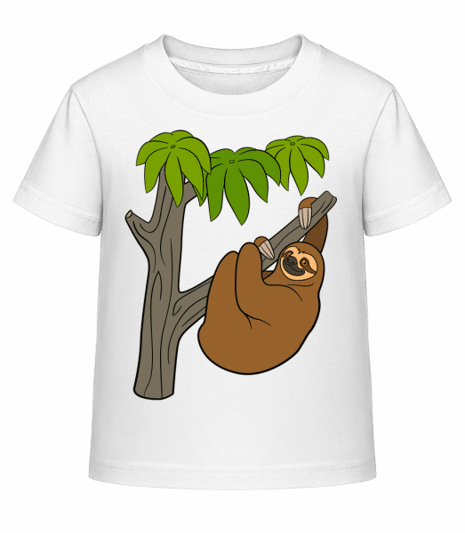 Sloth On The Tree - Kid's Shirtinator T-Shirt - White - Vorn