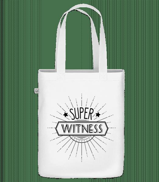 "Super Witness - Organic ""Earth Positive"" tote bag - White - Vorn"