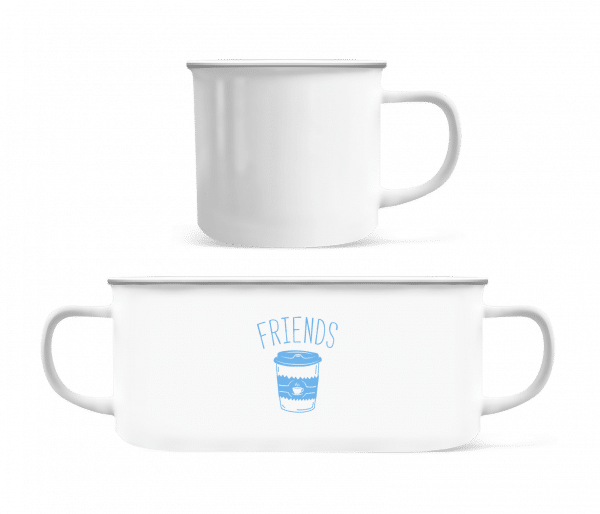 Friends Coffee - Enamel-cup - White - Front