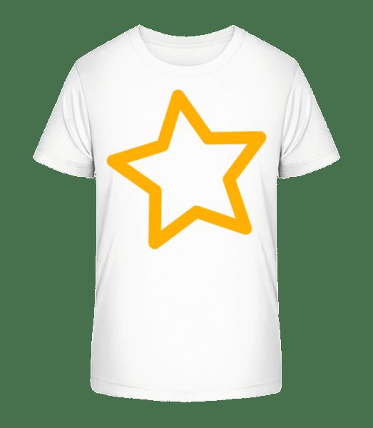 Simple Star - Kid's Premium Bio T-Shirt - White - Vorn