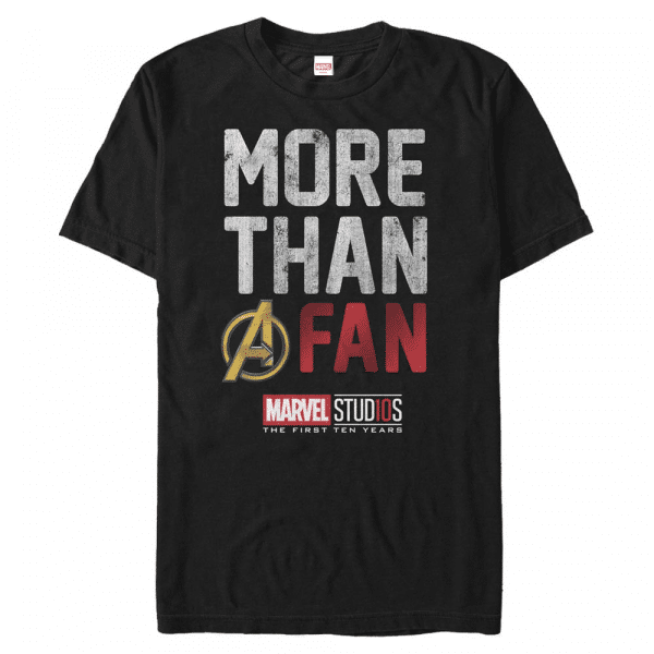 More than a fan Logo - Marvel Avengers - Men's T-Shirt - Black - Front