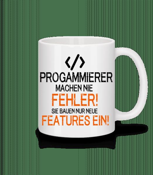 Programmierer Bauen Features - Tasse - Weiß - Vorn