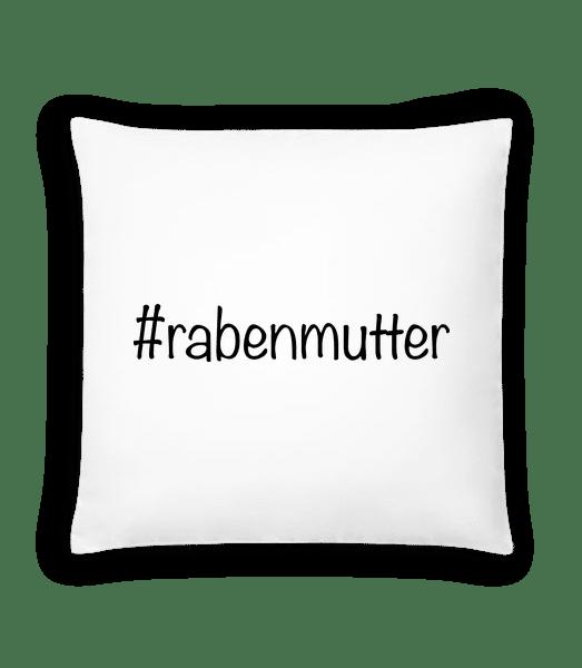 Rabenmutter Hashtag - Kissen - Weiß - Vorn