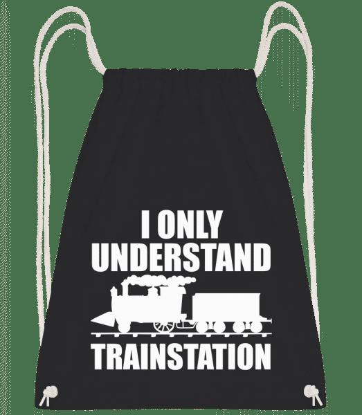 Understand Trainstation - Turnbeutel - Schwarz - Vorn
