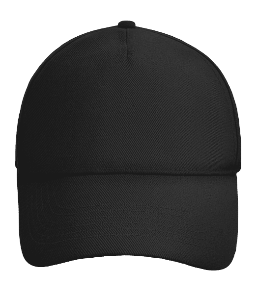 Baseball Cap adjustable - Black - Front