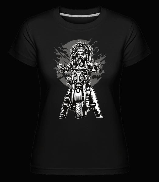Indian Chief Motorcycle -  Shirtinator Women's T-Shirt - Black - Front