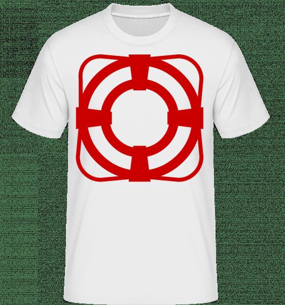 Lifebelt -  Shirtinator Men's T-Shirt - White - Vorn
