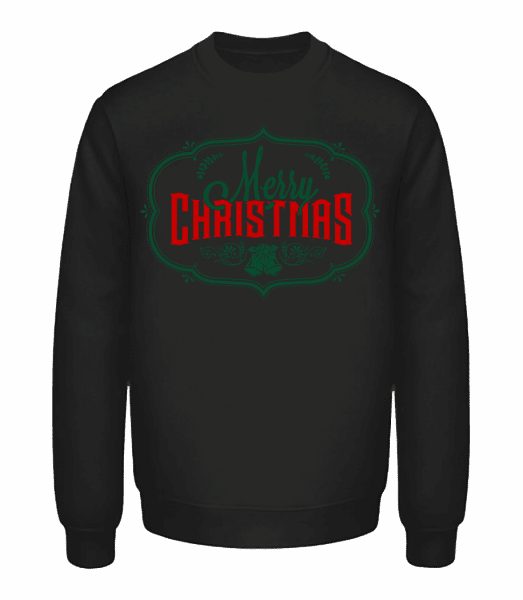 Merry Christmas Deer Label - Unisex Sweatshirt - Black - Vorn