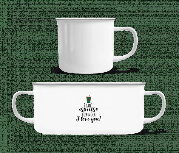 I Can't Espresso - Enamel-cup - White - Vorn