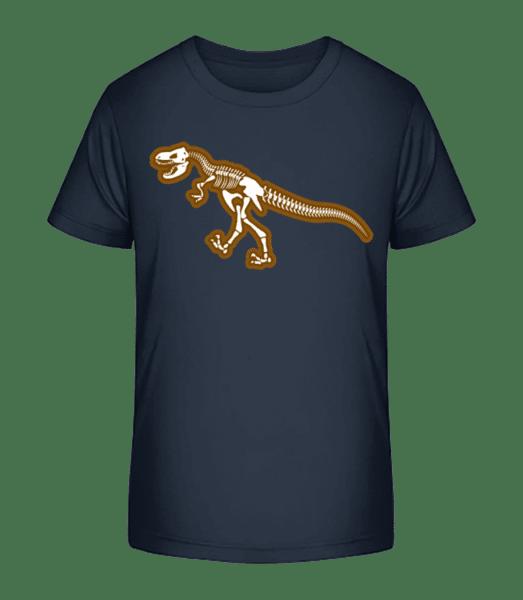 Dinosaur Skull - Kinder Premium Bio T-Shirt - Marine - Vorn