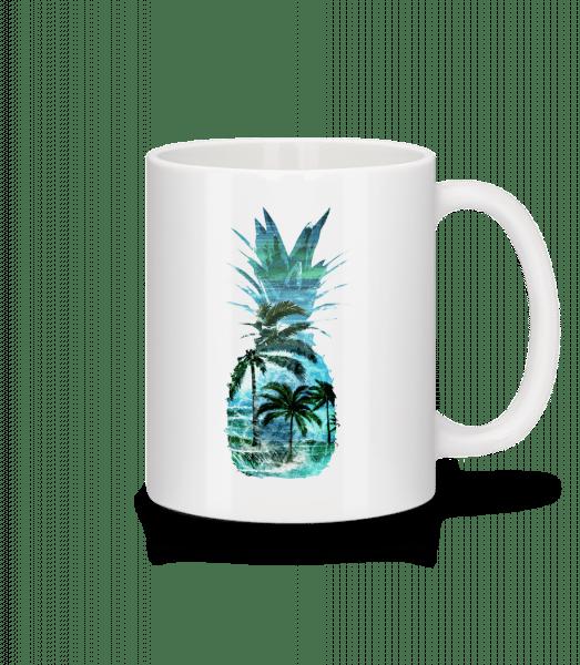 Pineapple Palms - Mug - White - Vorn