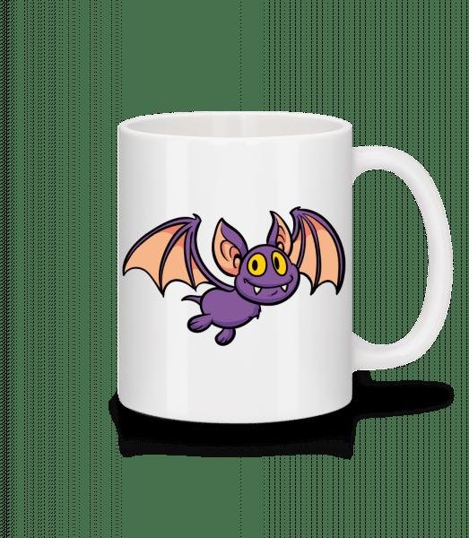 Cartoon Bat - Mug - White - Front