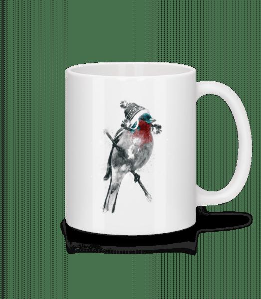 Weihnachten Vogel - Tasse - Weiß - Vorn