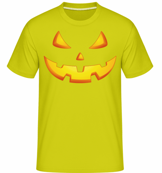 Pumpkin Face Evil -  Shirtinator Men's T-Shirt - Lime - Vorn