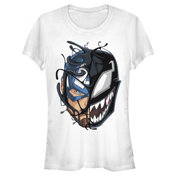 Captain Venom Captain America - Marvel - Women's T-Shirt - White - Front