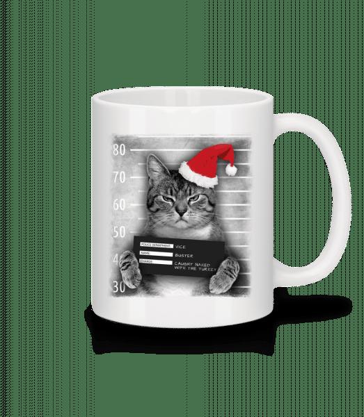 Cat XMas Guilty - Mug - White - Vorn