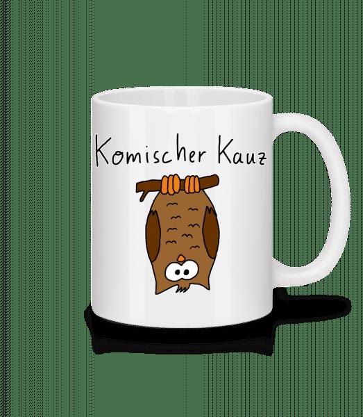 Komischer Kauz - Tasse - Weiß - Vorn