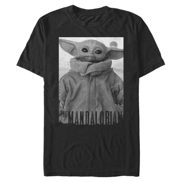 Only One The Child - Star Wars Mandalorian - Men's T-Shirt - Black - Front