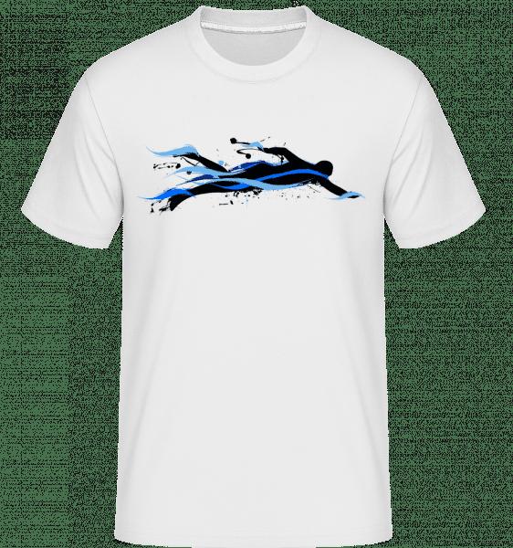 plavec -  Shirtinator tričko pre pánov - Biela - Predné